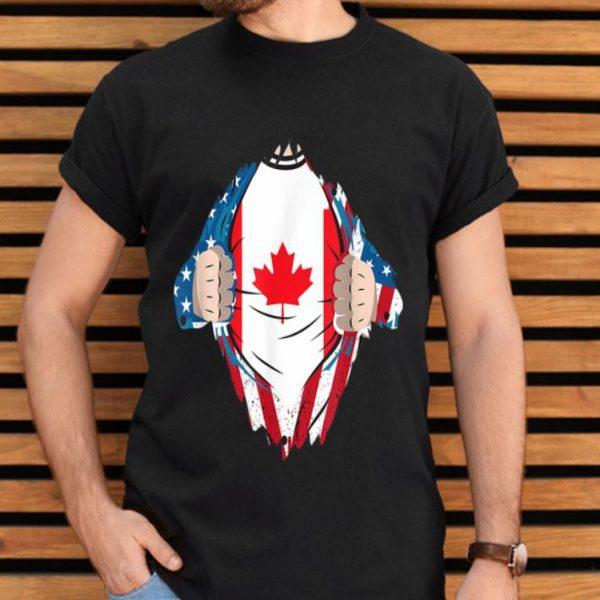 Canadian Blood Inside Me Canada Flag Shirt