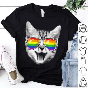 Cat LGBT Rainbow Flag Gay Pride For Men Women Shirt