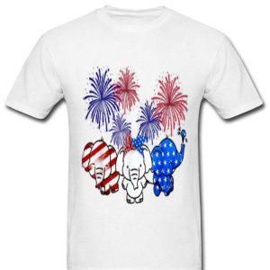 Elephant Flag Colors, Elephant Smile American Flag shirt