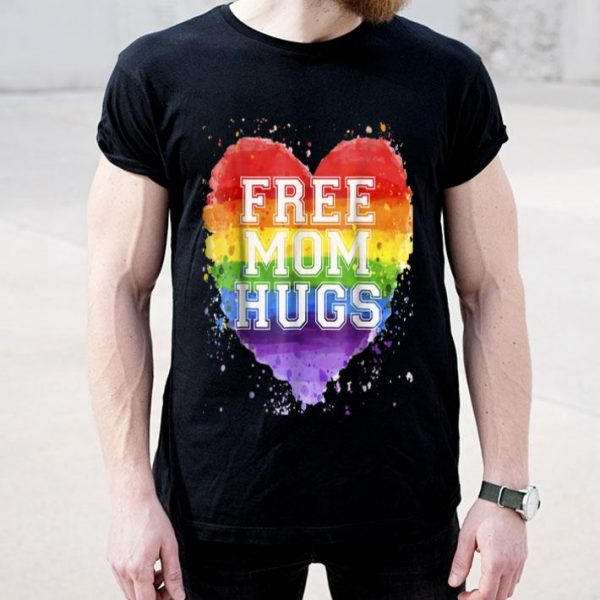 Free Mom Hugs Rainbow LGBT Gay Pride Flag Shirt