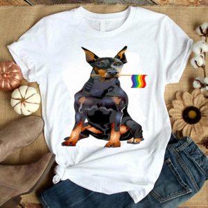 Gay Pride Flag Doberman Pinscher LGBT Pride Gifts Shirt