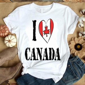 I Love Canada Canadian Heart Shirt