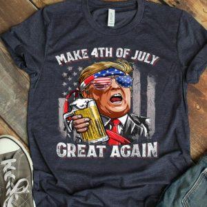 Make 4th Of July Great Again Trump Beer shirt