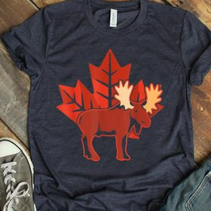 Maple Leaf Canada Day Moose Canada shirt