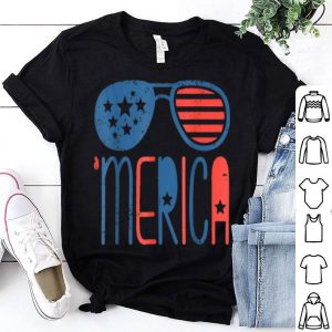 Merica American Flag 4th July 4th July shirt