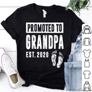 Promoted To Grandpa Est 2020 Happ Father Day shirt