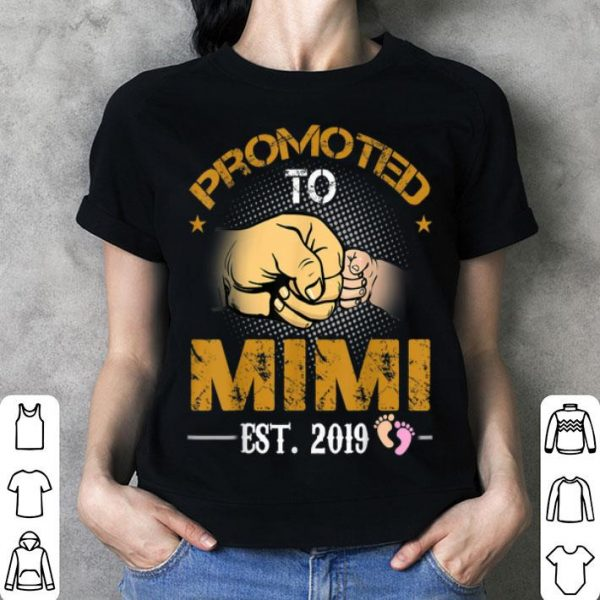 Promoted To Mimi Est 2019 New Dad Fathers Day shirt