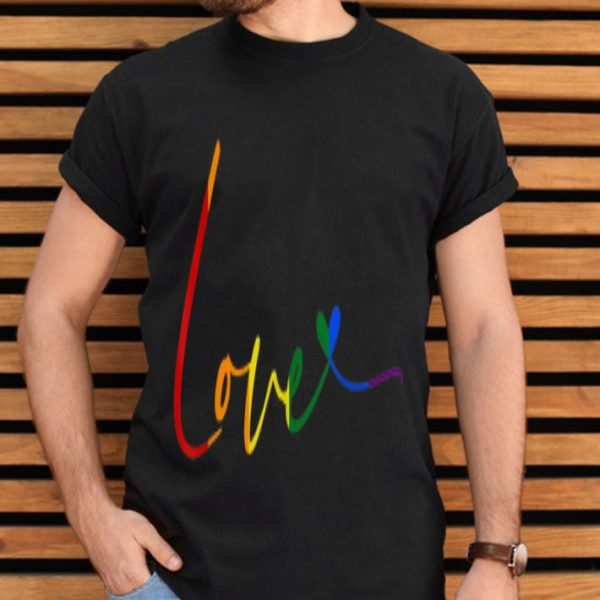 Rainbow Love LGBT With Heart Pride Month Gay Lesbian shirt