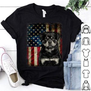 Rottweiler Dog 4th Of July American Flag Gift Patriotic Shirt