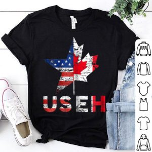 USEH Leaf Canadian American Flag Canada USA Flag Happy Canada Day And American Independence Day shirt