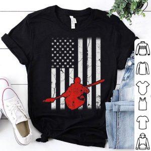 Vintage American Flag Kayaking Apparel Kayaker Kayak shirt
