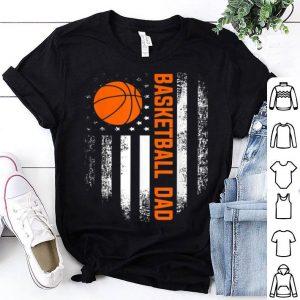 Vintage Basketball Dad American Flag Father's Day shirt