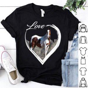 Wild Horse Lover of Horses Heart Love Paint Pinto shirt