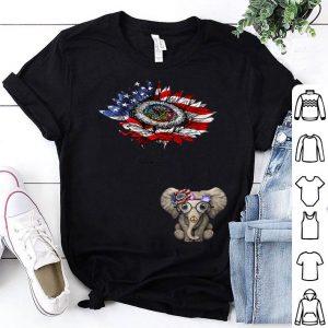 You Are My Sunshine Hippie Elephant Us Flag 4th July shirt
