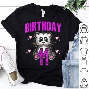 11 First Birthday I Love Pandas I Am 11 shirt