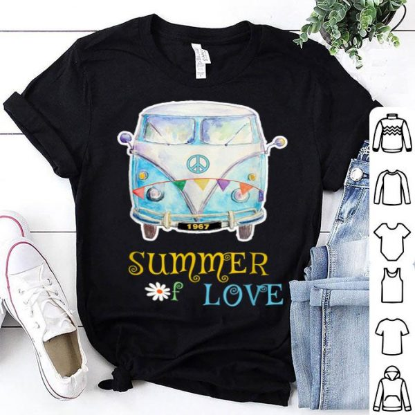 1967 Summer Of Love Hippie Peace Camper Van shirt