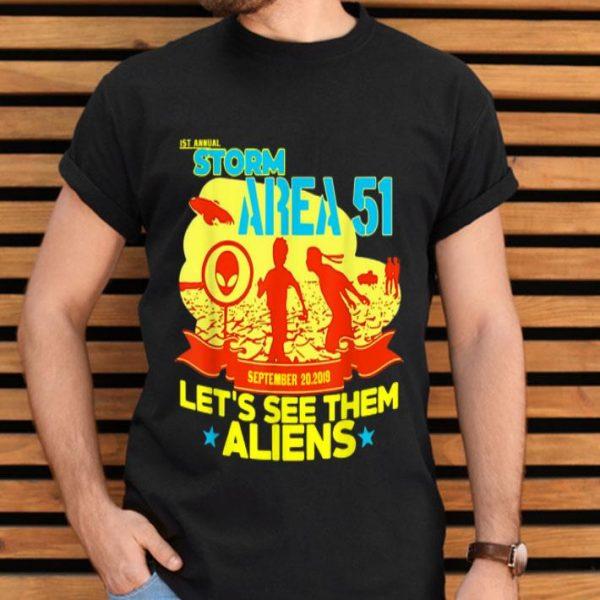1st Annual Area 51 5k Fun Run Sept 20 2019 shirt