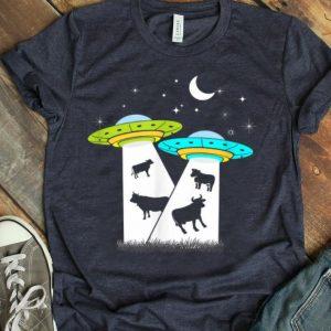 Alien Cow Abduction UFO Area Free The Aliens shirt