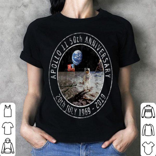 Apollo 11 50th Anniversary Moon Landing 1969 2019 Distressed shirt