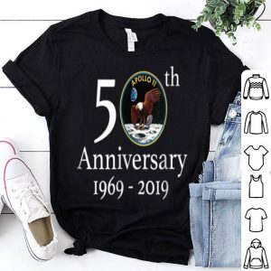 Apollo 11 50th Anniversary NASA Moon Landing Logo Tee shirt