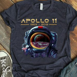 Apollo 11 Astronaut with Earth Reflection Moon Landing 1969 shirt