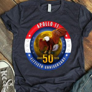 Apollo 11 Patriotic 50th Anniversary Eagle Moon Tee shirt