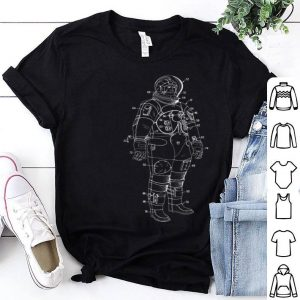 Apollo Moon Landing Astronaut Space Suit Illustration shirt