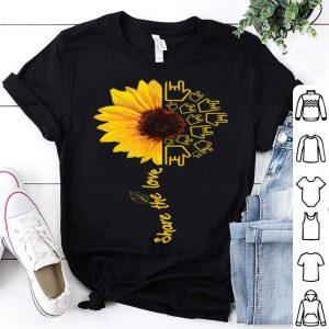 Asl American Sign Language Sunflower Share The Love shirt