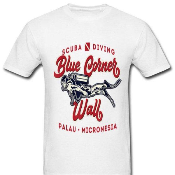 Blue Corner Wall Palau Micronesia Scuba Diver shirt