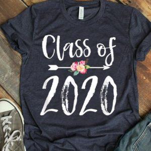 Class Of 2020 Arrow Flowers For Girls Women shirt