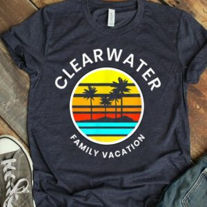 Clearwater Florida Family Vacation Sunset Palm Trees shirt