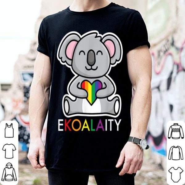 Ekoalaity Cute Koala BearRainbow Flag LGBT Gay Pride shirt