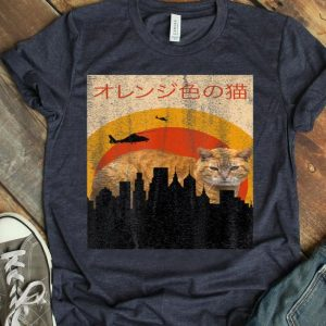 Japanese Movie Poster Tabby Cat Vintage Horror Pet Zilla shirt