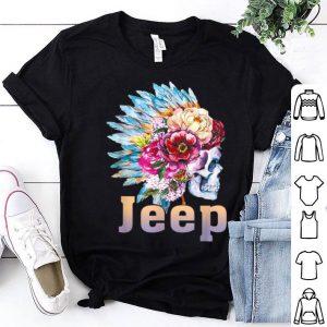 Jeep Skull Hippy Flower Skull shirt