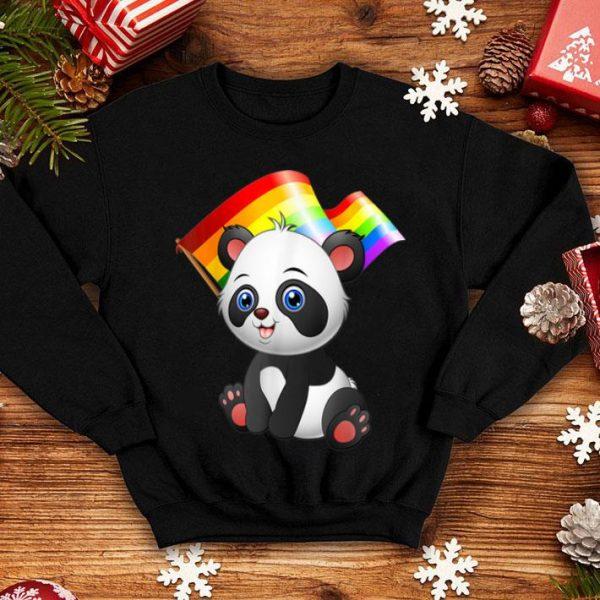 Lgbt Flag Panda Bear Gay Lesbian Men Women shirt