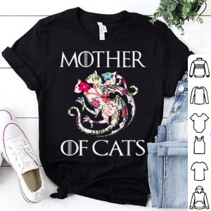 Mother Of Cats Flower Mother's Day Floral shirt