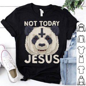 Not Today Jesus Satanic Panda Death Metal Concert shirt