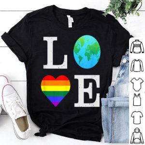 Pride LGBTQ Love Earth Science July Climate Change shirt