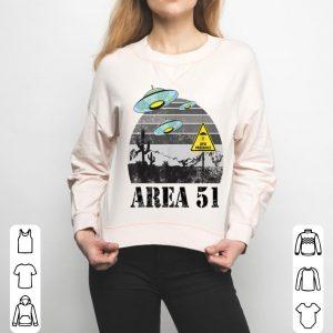 Retro Area 51 Meme UFO Presence shirt