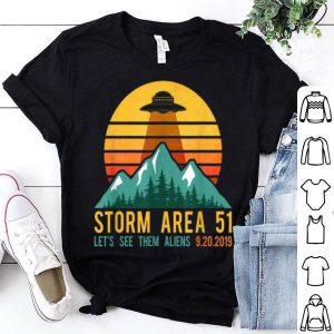 Retro Storm Area 51, UFO Lets See Them Alien shirt