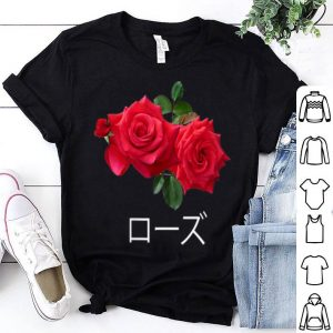 Rose With Japanese Text Vaporwave Kanji shirt