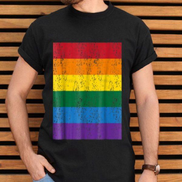Vintage Distressed Gay Pride Flag Gay Flag shirt