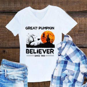 Awesome Great Pumpkin Believer Since 1966 Halloween shirt