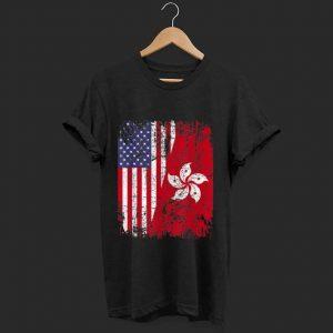 Awesome Hong Kong Half American Flag shirt