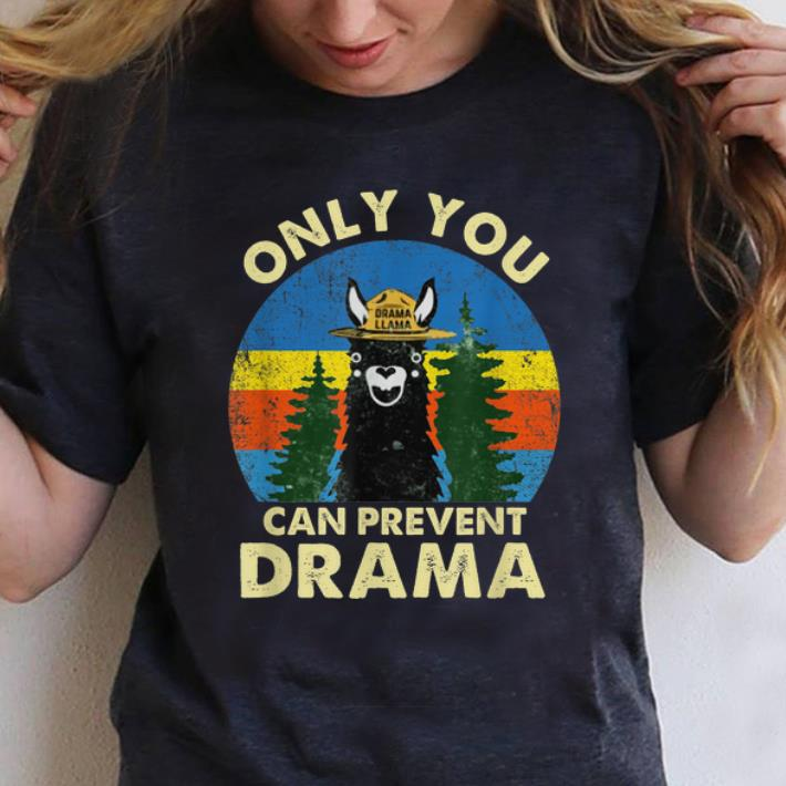 Awesome Llama Only You Can Prevent Drama Vintage shirt 1 - Awesome Llama Only You Can Prevent Drama Vintage shirt