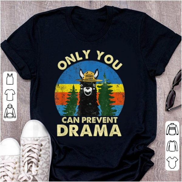 Awesome Llama Only You Can Prevent Drama Vintage shirt