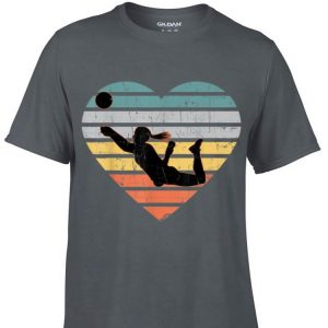 Awesome Volleyball Teen Girls Vintage Heart shirt