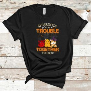 Funny Apparently We're Trouble When We Are Guinea Pigs Halloween shirt