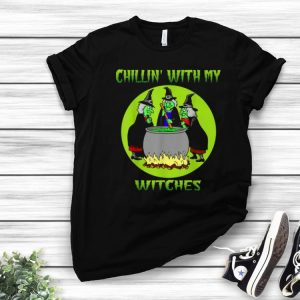 Hot Chillin With My Witches Halloween Funny Gift