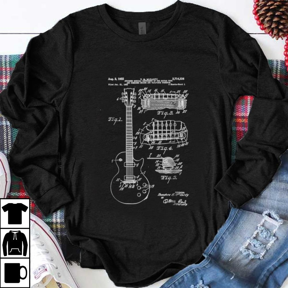 Hot Guitar Patent Print 1955 shirt 1 - Hot Guitar Patent Print 1955 shirt